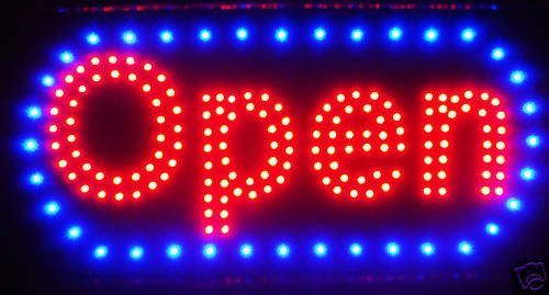 "LED Neon Light Open Sign with Animation On/Off and Power On/Off Two Switchs for Business by""E Onsale"" 19""x10"" L46"