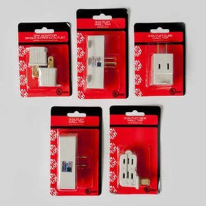 Set of 5 Wall Outlet Taps and Adapters