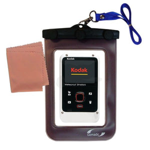 Outdoor Gomadic Waterproof Carrying case Suitable for The Kodak Playfull Ze2 to use Underwater - Keeps Device Clean and Dry