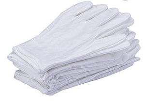 10Pairs White Cotton Gloves Large Size for Coin Jewelry Silver Inspection by LUCKY SLD