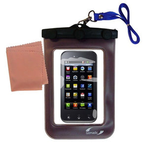 outdoor Gomadic waterproof carrying case suitable for the LG Optimus Sol to use underwater - keeps device clean and dry