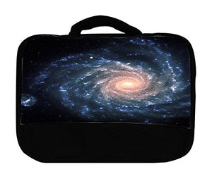 Blue Wormhole Insulated Canvas Lunch Bag