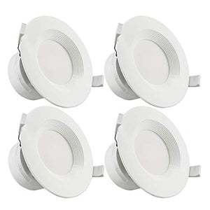 TORCHSTAR 4-Pack 4 Inch LED Recessed Downlight with Junction Box, 7W (60W Eqv.) Dimmable LED Ceiling Light Fixture, IC-Rated & Air Tight, Wet Location, 5000K Daylight, UL-Listed, 5 Years Warranty