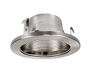 Nicor Lighting 4 Inch Nickel Baffle Trim, For 4 Inch Housings (19501 Nk)