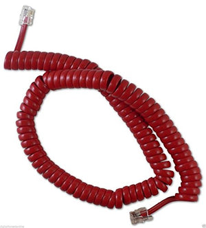 yan_CABLESYS 1200RD 12-foot Coiled Telephone Handset Cord (GCHA444012-FCR) Red
