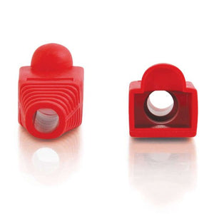 C2G 04755 RJ45 Snagless Boot Cover Mutlipack (50 Pack) TAA Compliant, Red (6.00mm Outside Diameter)