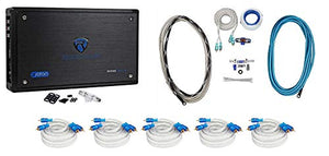 Rockville RXM8BTB 8-Channel 1500 Watt Marine Bluetooth Boat Amplifier+Amp Kit