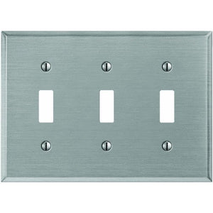 Jackson-Deerfield Mfg. 9PT103 Pewter Tone Steel Switch Wall Plate