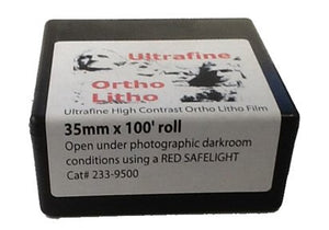 Ultrafine Ortho Litho Film 35mm x 100 Ft Roll