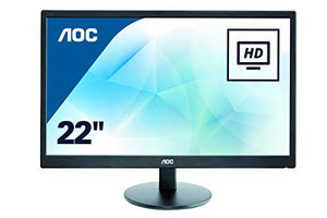 AOC E2270SWN 21.5 Inches Class LED Monitor 1600 x 900 Resolution VGA Black 5ms