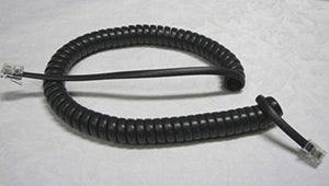 5 Pack of Dark Gray (aka Black or Charcoal) 9' Ft Handset Cords for Polycom IP Phone SoundPoint 301 321 330 331 335 430 450 500 501 550 560 601 650 670 VoIP Tail/Leader Coil Curly Lot DIY-BizPhones