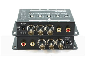Shinybow 1x1 (1:1) Component BNC Y/Pb/Pr Video + Stereo Analog R/L Audio Amplifier Extender Booster
