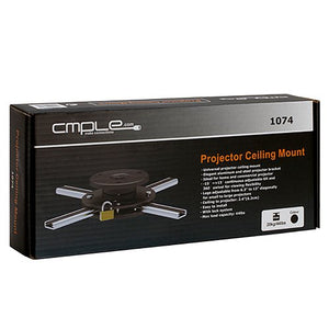 Cmple   Aluminium Slim Ceiling Mount For Projectors (Max 44 Lbs) Blak/Silver