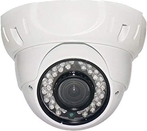 Cop Security INS-D281271 700TVL 1/3-Inch 960H CCD, 2.8~12mm Lens, 36pcs IR, Dome Camera (White)