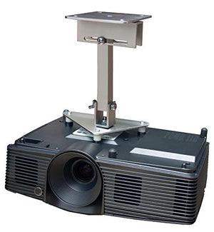 PCMD, LLC. Projector Ceiling Mount Compatible with NEC VE303 VE303X with Lateral Shift Coupling (10-Inch Extension)