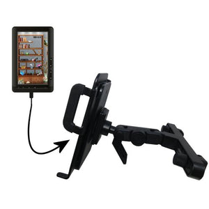 Gomadic Brand Unique Vehicle Headrest Display Mount for The Laser eBook Media 7 EB850