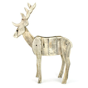 Kel-Toy Inc Kel-Toy 16.5-Inch-by-5.5-Inch-by-24-Inch Distressed Wooden Elk Planter