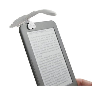 Really Tiny Book Light with E-Reader Adapter - White