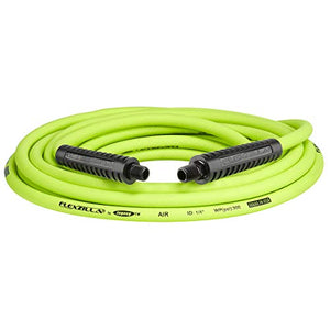 Flexzilla Air Hose, 1/4 in. x 25 ft, 1/4 in. MNPT Fittings, Heavy Duty, Lightweight, Hybrid, ZillaGreen - HFZ1425YW2