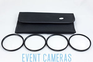 NGO 58mm - 4 Filter Close Up Kit +1 +2 +4 +8 w/Pouch & Cleaning Kit FK006-58