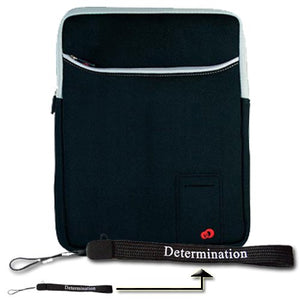 New Kindle DX 3 Pocket Vertical Carrying Sleeve and Determination Hand Strap