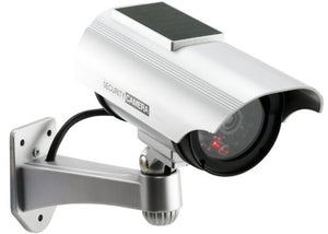 Cop Security 15-CDM19 Solar Powered Fake Dummy Security Camera, Silver
