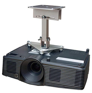 PCMD, LLC. Projector Ceiling Mount Compatible with Optoma W304M X304M with Lateral Shift Coupling (8-Inch Extension)