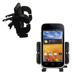 Innovative Vent Cradle Vehicle Mount Designed for The ZTE Imperial - Adjustable Vent Clip Holder for Most Car/Auto Vent Systems