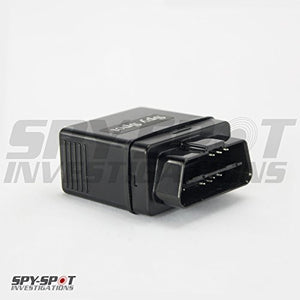 Spy Spot OBD II 4G LTE GPS Tracker, Real Time View, Teen Driver Coach, Mileage Recorder