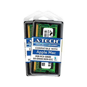 A-Tech for Apple 8GB Kit 2 x 4GB PC3-10600 Mac Mini iMac MacBook Pro Mid 2010 Late 2011 A1286 MD311LL/A A1297 MC511LL/A A1312 MC309LL/A A1311 MC812LL/A MC813LL/A MC814LL/A MC815LL/A A1347 Memory RAM