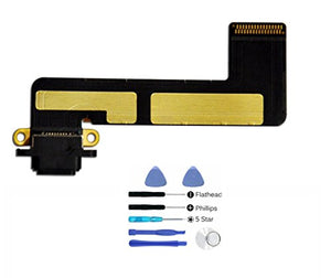 (md0410) Black USB Charging Port Charge Dock Connector Charger Flex Ribbon Cable Replacement Part Compatible Ipad Mini Model A1432 A1454 A1455 + Tools Kit