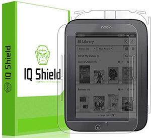 IQ Shield Full Body Skin Compatible with Nook Simple Touch (with GlowLight) + LiQuidSkin Clear (Full Coverage) Screen Protector HD and Anti-Bubble Film