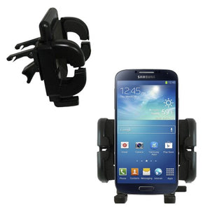 Vent Vehicle Mount Cradle Designed for Samsung Galaxy S4 - Unique Auto Car Holder Clips into Air Vents.