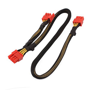 uxcell PCI Express PCIE 8 Pin to Dual 6 2 Pin Video Card Y-Splitter Adapter Power Supply Cable