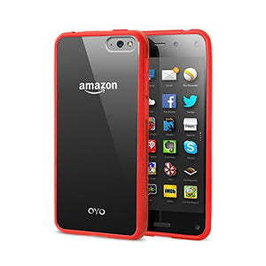Amazon Fire Phone Case by OYO, Snap-in, Back Clear Protective Cover Case (Red)