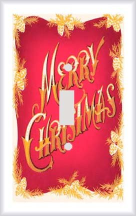 Merry Christmas Switchplate - Switch Plate Cover