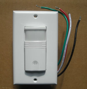 3 Way OCCUPANCY / VACANCY Wall Motion Sensor Detector 120V / 277V Switch WHITE
