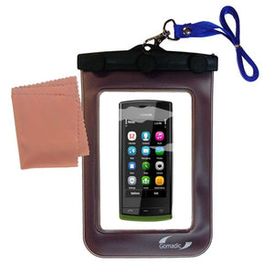 Gomadic Outdoor Waterproof Carrying case Suitable for The Nokia 500 to use Underwater - Keeps Device Clean and Dry