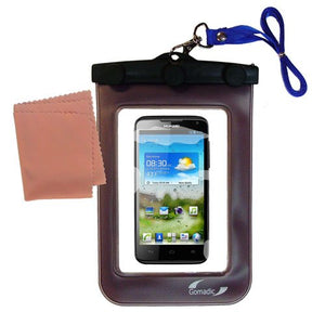 outdoor Gomadic waterproof carrying case suitable for the Huawei Ascend D quad to use underwater - keeps device clean and dry