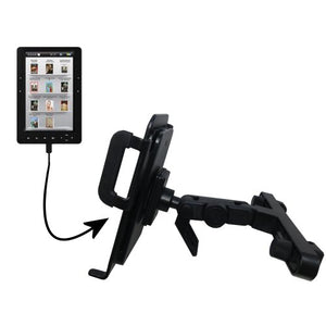 Gomadic Brand Unique Vehicle Headrest Display Mount for The Elonex 705EB Colour eBook Reader