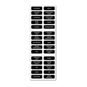 BLUE SEA SYSTEMS BS-8039 / Large Format Extended Label Kit (120 Labels) DC Panel Extended, MFG# 8039
