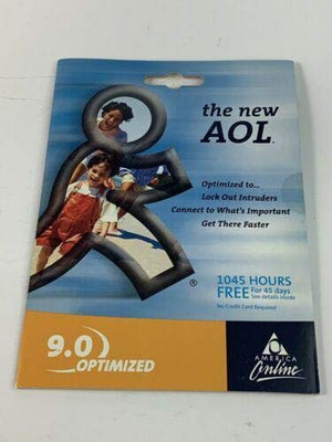 AOL ALL-NEW 9.0 OPTIMIZED CD /1045 HOURS FREE