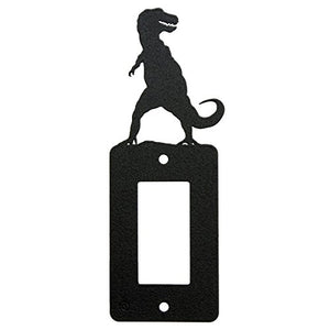 Tyrannosaurus T-Rex Dinosaur Rocker Light Switch Cover - GFCI Power Outlet - Plate