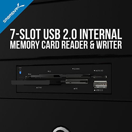 Sabrent 74-in-1 3.5-Inch Internal Flash Media Card Reader/Writer with USB Port (CR-USNT)