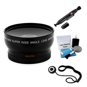 Ultrapro 55mm Digital Wide Angle/Macro Lens Bundle for Nikon D3400 DSLR Camera with 18-55mm Lens Deluxe Accessory Set Included