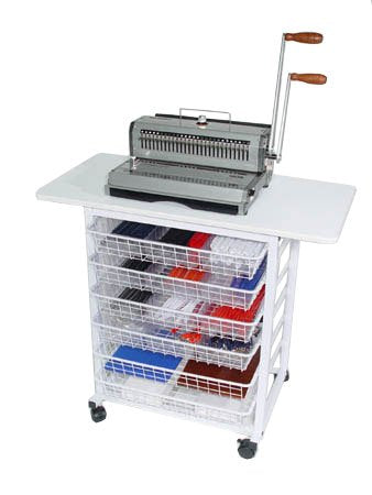Akiles Binding Workstation w/ Drawers