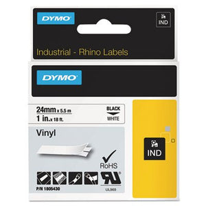 Rhino Permanent Vinyl Industrial Label Tape, 1