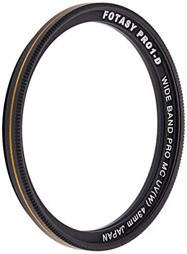 Fotasy 43mm Ultra Slim UV Protection Lens Filter, Nano Coatings MRC Multi Resistant Coating Oil Water Scratch, 16 Layers Multicoated 43mm UV Filter