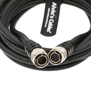 Alvin's Cables Coaxial 12 Pin Hirose Male to 12 Pin Hirose Female Cable for Sony Camera Computer Network