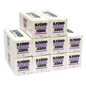 Ilford Delta 3200 Professional Black And White Negative Film   120 Roll Film (10 Pack)